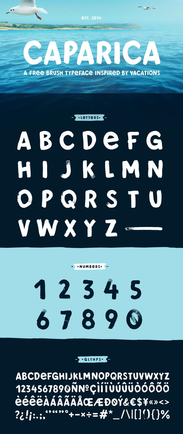 Free Brush Typeface 'Caparica'