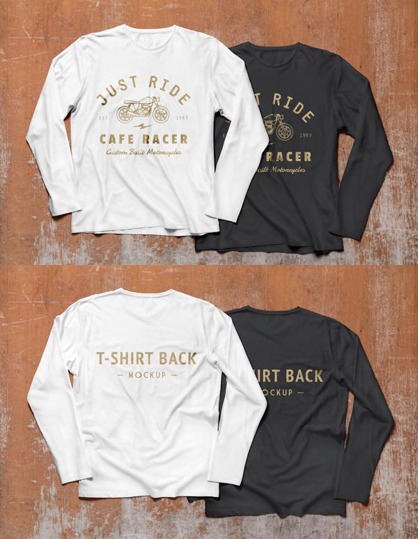 Free Long Sleeve T-Shirt MockUp