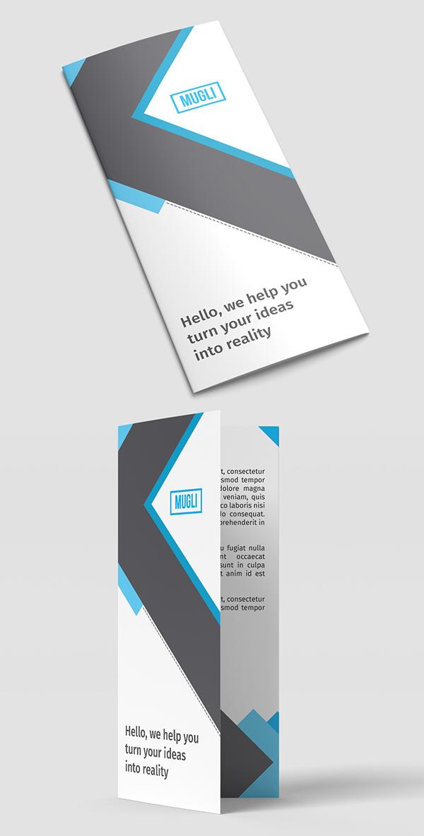 Free 2 PSD files Trifold Brochure Mockups