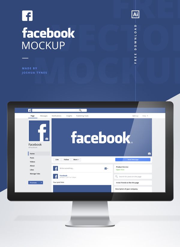mock facebook page template - new free mockup psd templates 26 product mock ups idevie