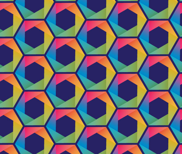 How to Create Rainbow Hexagon Pattern In Adobe Illustrator Tutorial