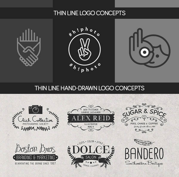 Thin Line & Hand-Drawn Logo Concept