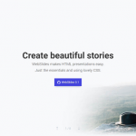Makes HTML Presentations Easy with WebSlides