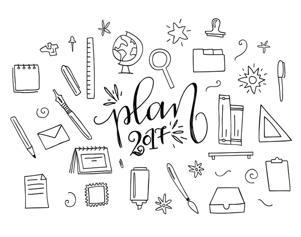 Free Handdrawn Office Elements