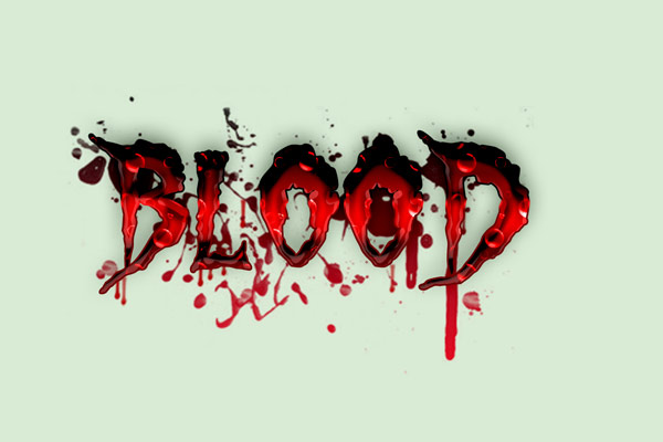 How to Create a Dripping Blood Text Effect in Photoshop