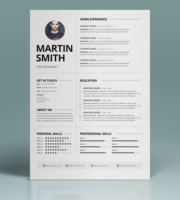 50 Best Cv / Resume Templates With Cover Letter - Idevie