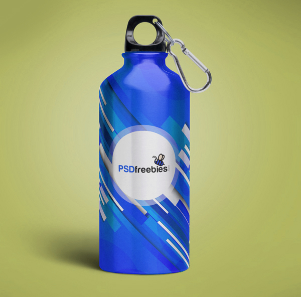 Free Aluminum Water Bottle Mockup