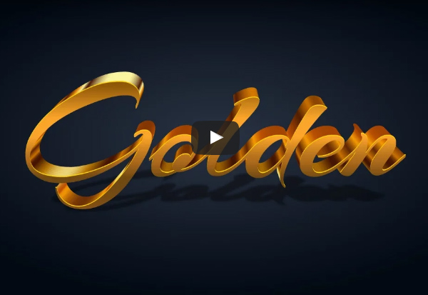 How to Create Realistic Gold Text Effect in Adobe Illustrator