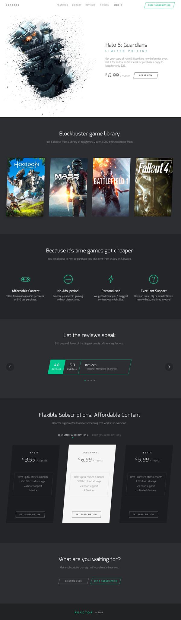 Netflix Style Landing Page PSD Template Free