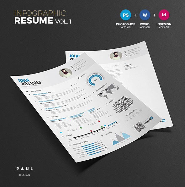 Infographic Resume Template Vol.1