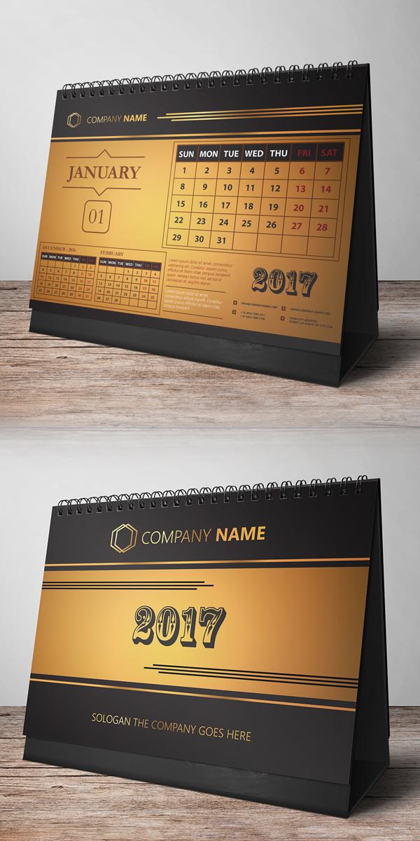 Free Desk Calendar Design 2017
