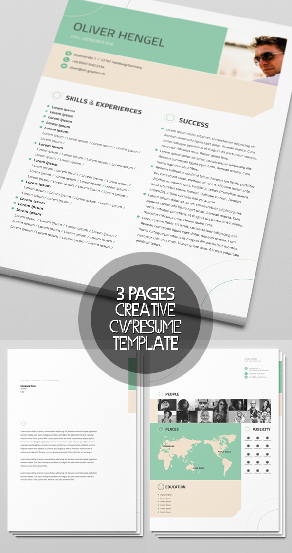 Creative Free CV/Resume Template
