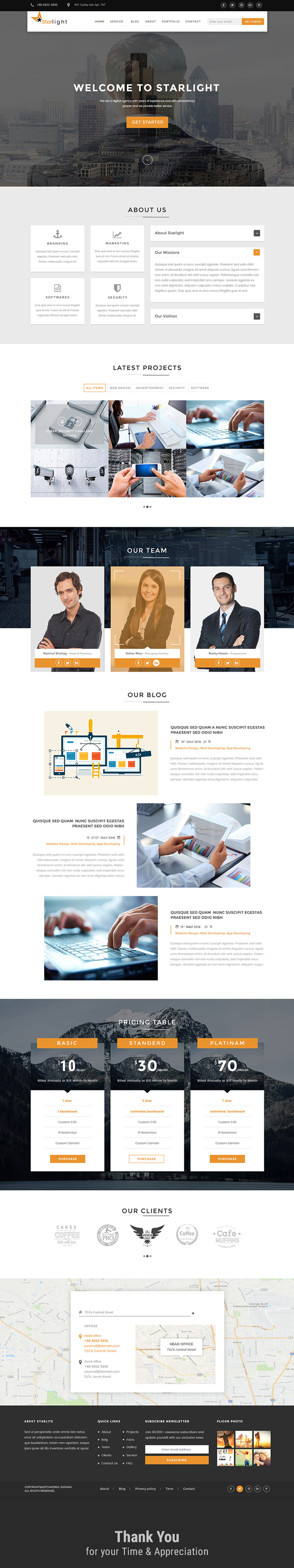 Starlight Corporate Portfolio Free PSD Template