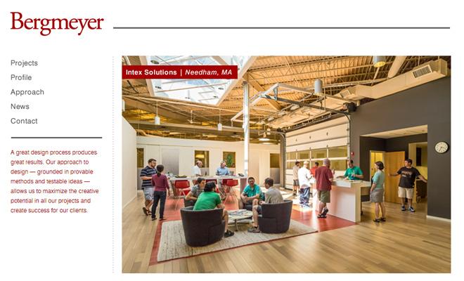 bergmeyer homepage website layout architecture
