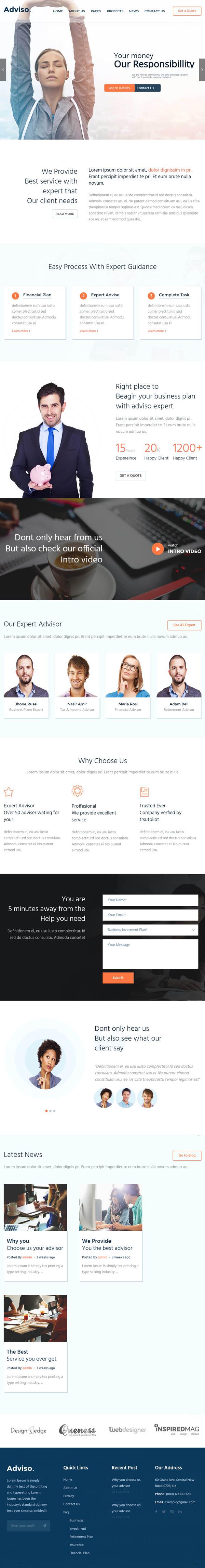 Adviso – Finance, Consulting, Business WordPress Theme