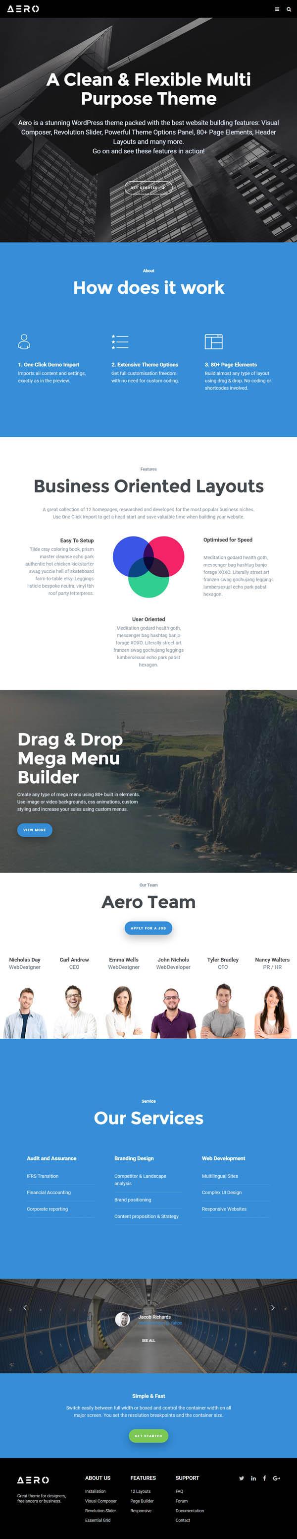 Aero – Responsive Multipurpose WordPress Theme