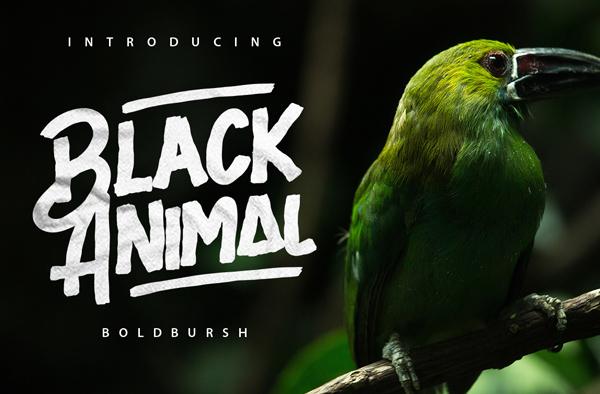 Black Animal Free Font