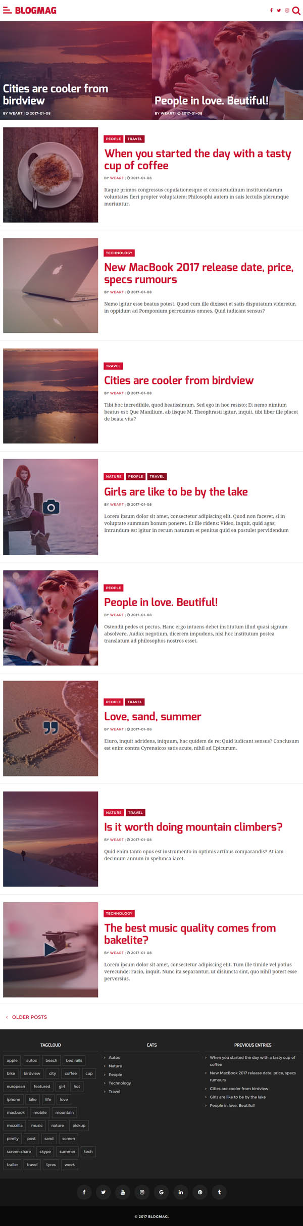 BlogMag – Responsive Blog and Magazine WordPress Theme