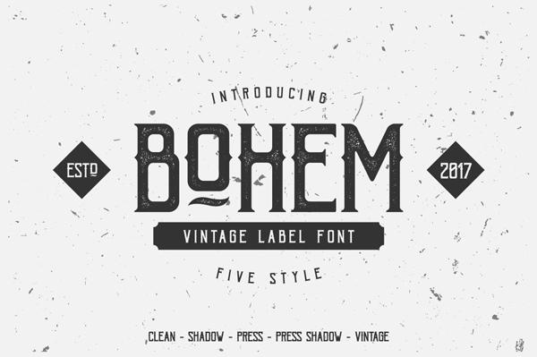 Bohem Press Free Font