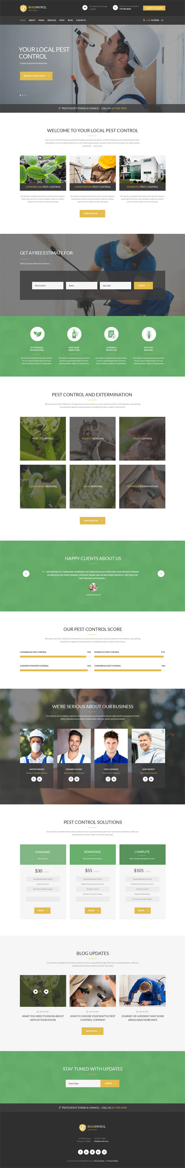 BugsPatrol – Pest Control Services WP Theme