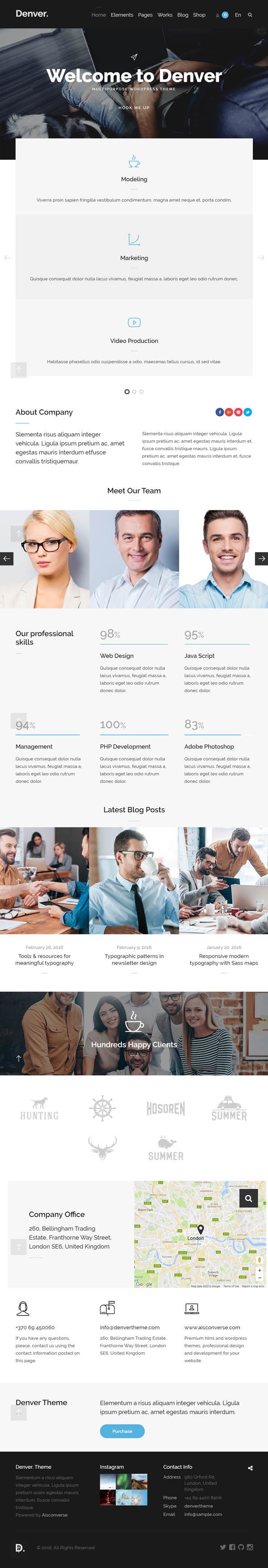 Denver – Flexible Multipurpose WordPress Theme