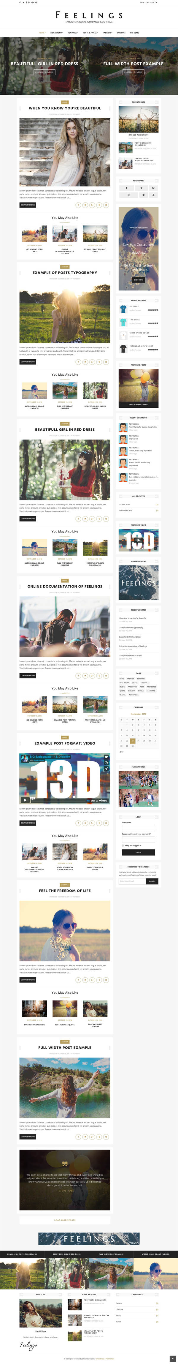 Feelings – Exquisite Personal WordPress Blog Theme