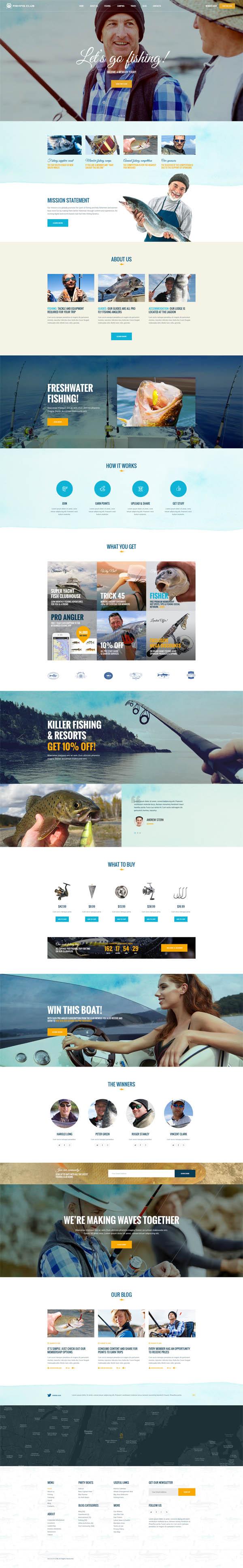Fishing Club – Fishing | Camping | Travel Club WordPress Theme