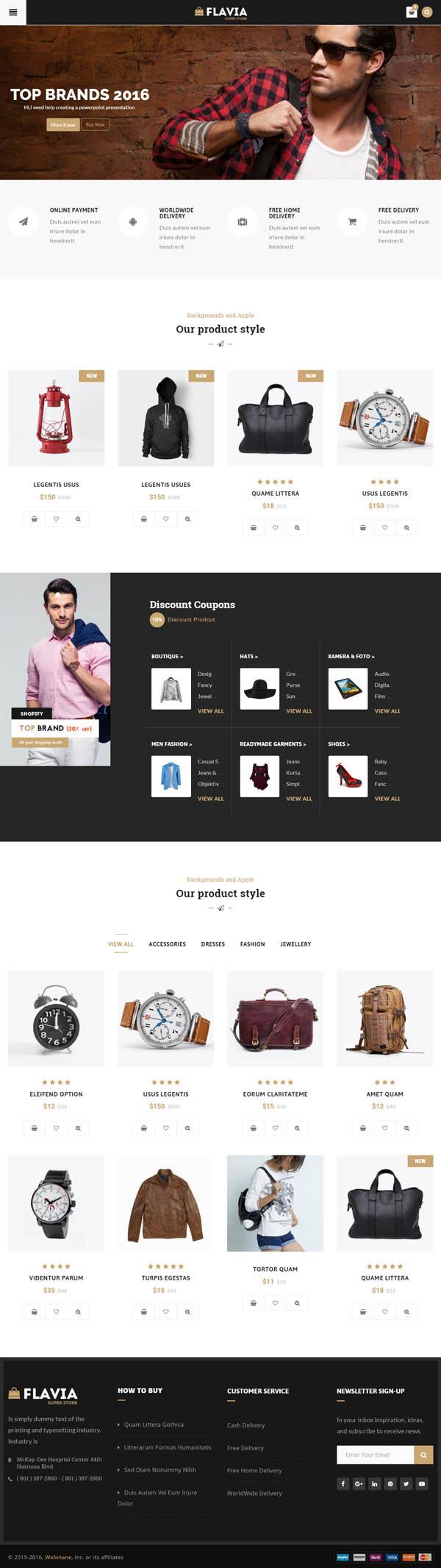 Flavia – Download Responsive WooCommerce WordPress Theme