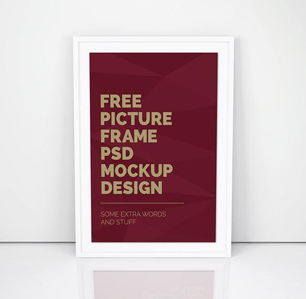 Free Simple Artwork Frame PSD Mockup