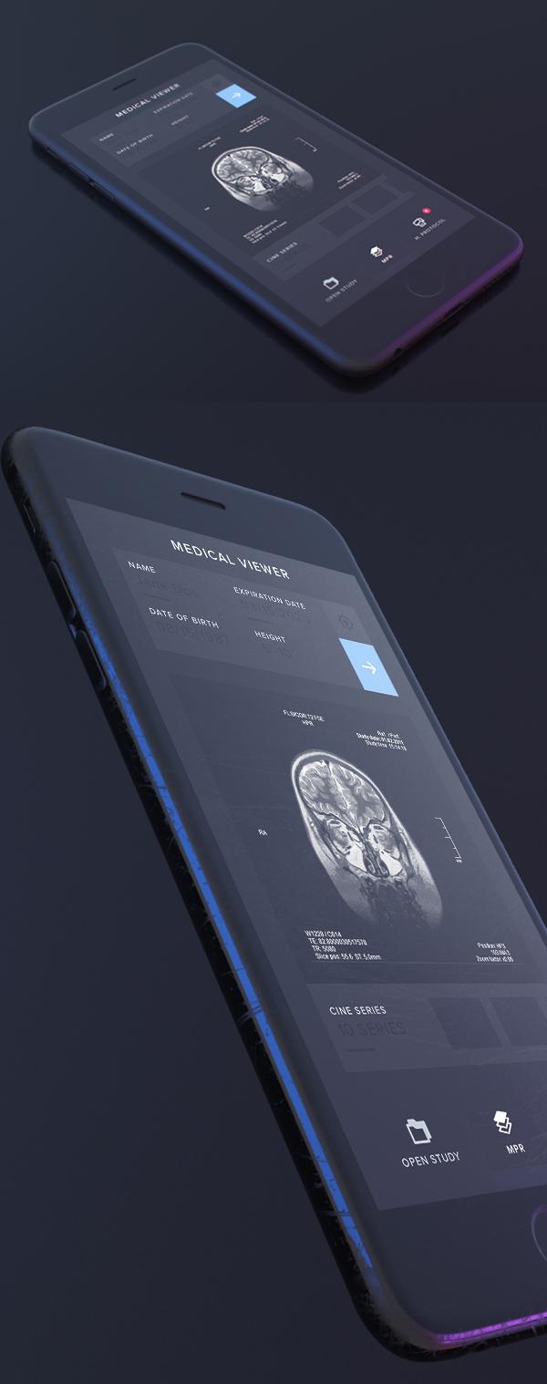 Free Dark iPhone Mockup PSD
