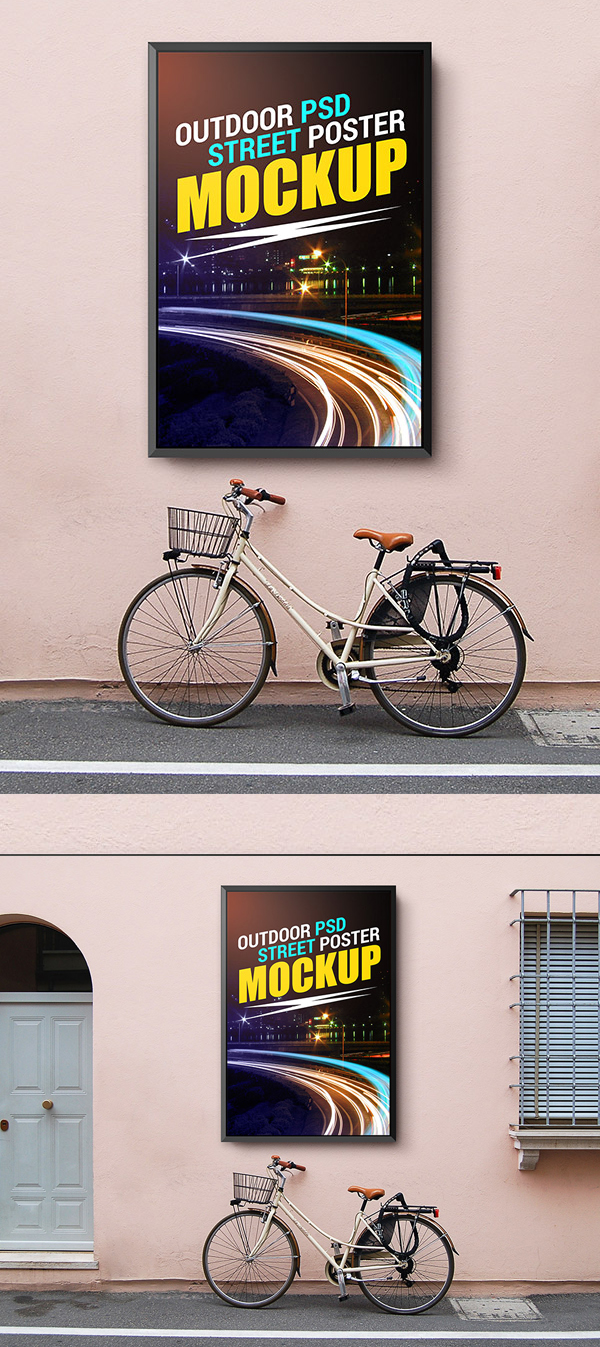 Free Outdoor Street Poster Mockup Template