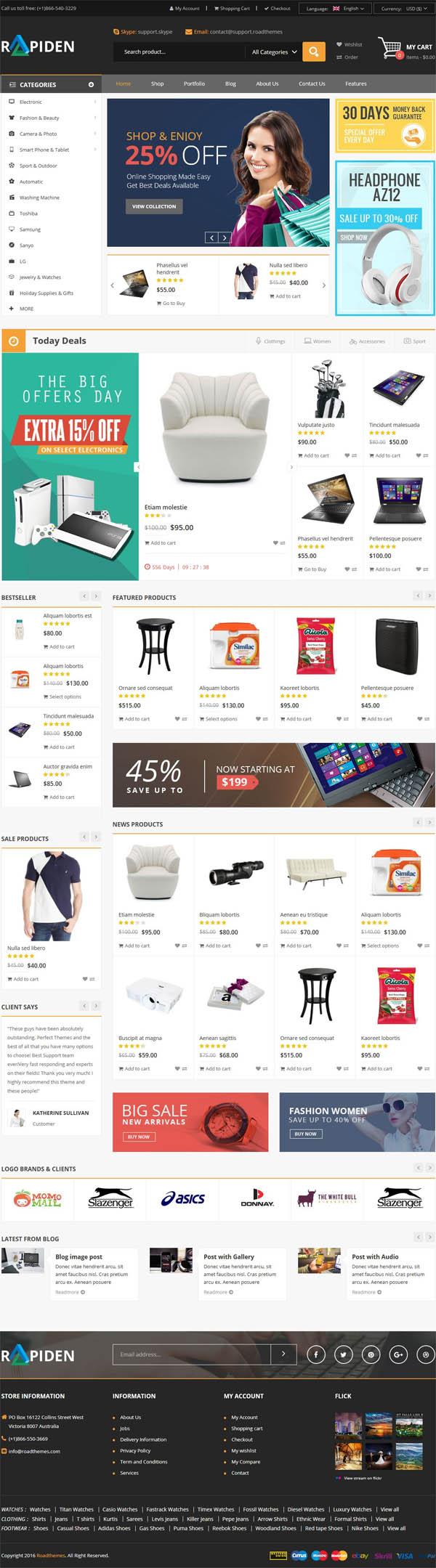 Rapiden – Mega Shop Responsive WordPress Theme