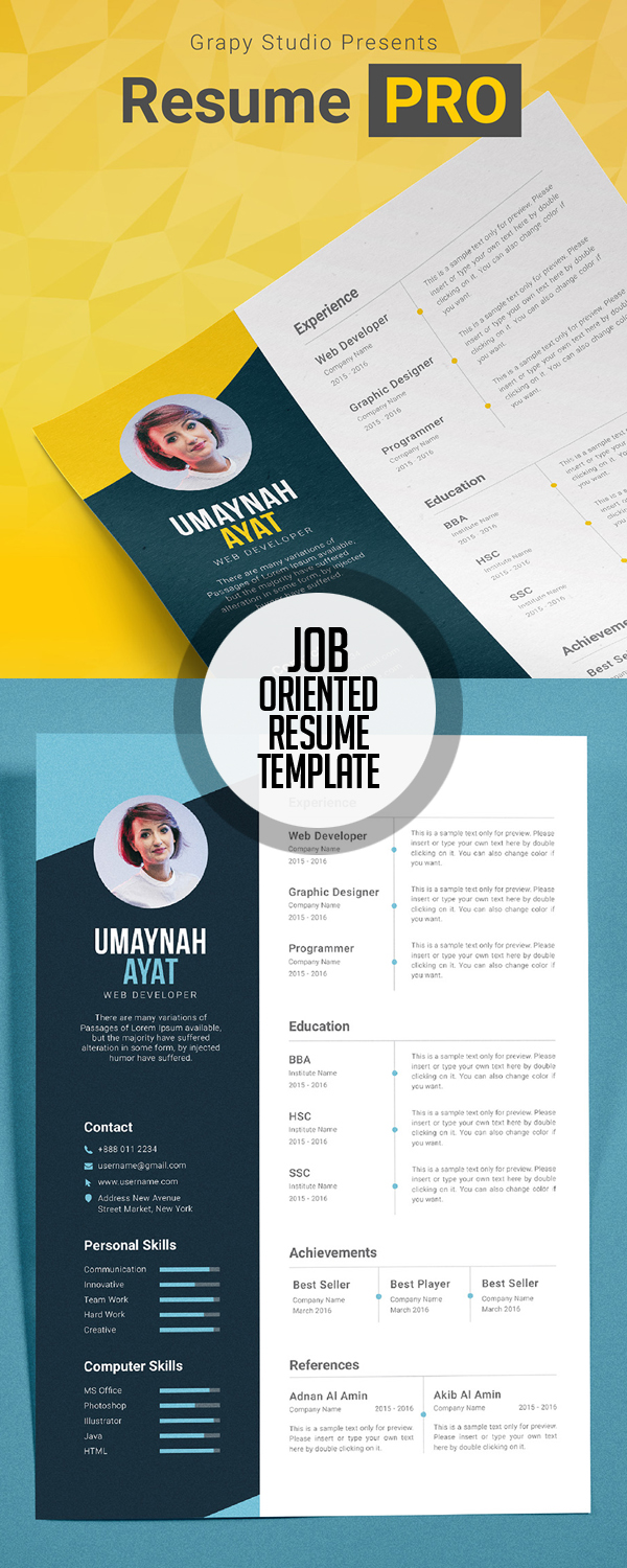 Resume PRO Template (Job interview resume)