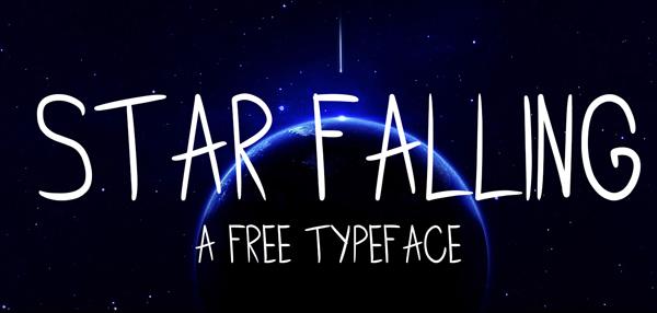 STAR FALLING Free Font
