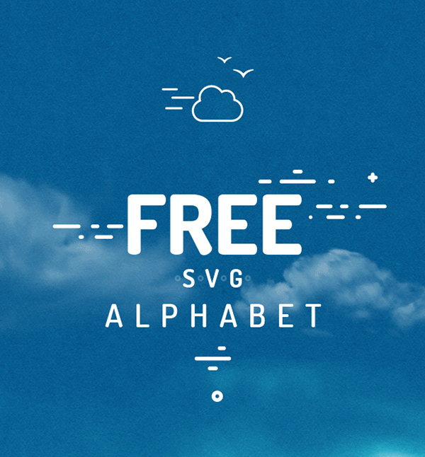Free SVG Alphabet Free Font