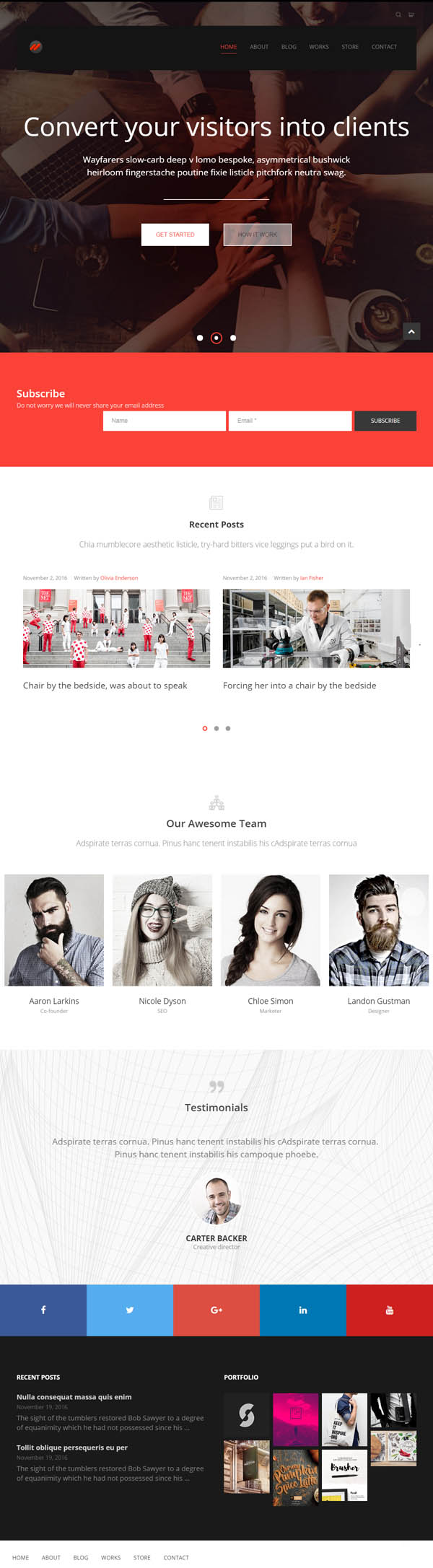 Start Hub — Clean Multipurpose Portfolio/Blog Responsive WordPress Theme