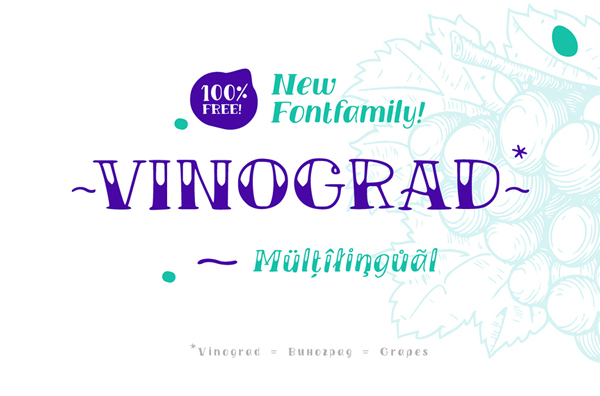 TM VINOGRAD Free Font