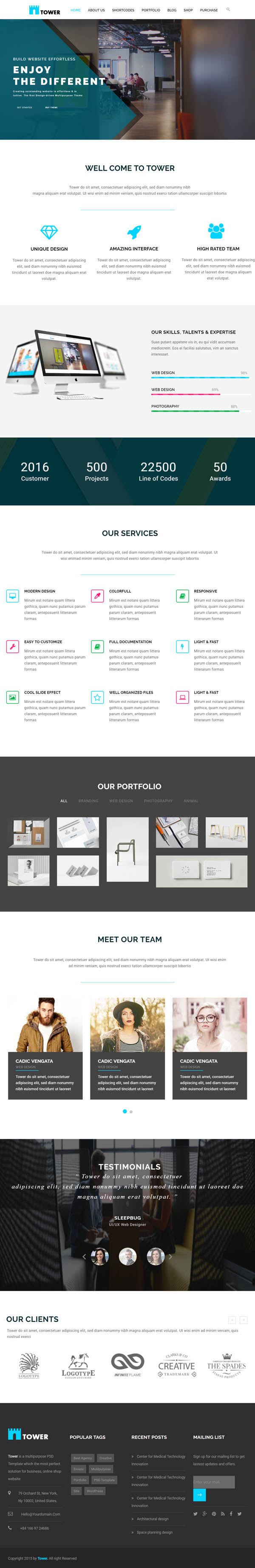 TOWER – Corporate Business Multipurpose WordPress Theme