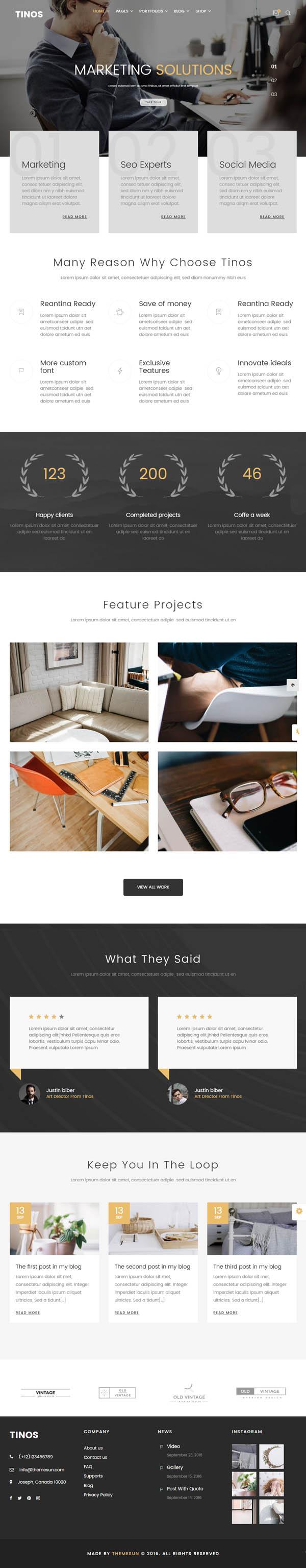 Tinos – Multipurpose WordPress Theme