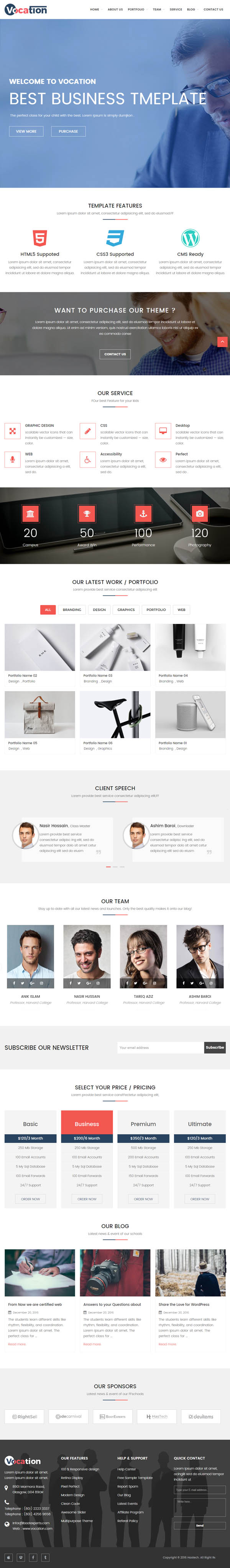 Vocation – Corporate WordPress Theme