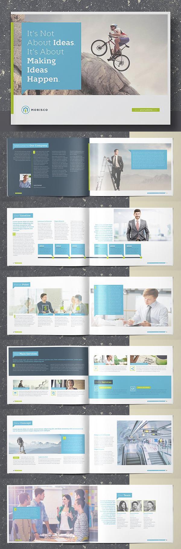Minimal Brochure Landscape Template