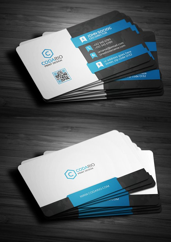 Custom Card Template professional business cards : 25 New Professional Business Card Templates (Print Ready ...