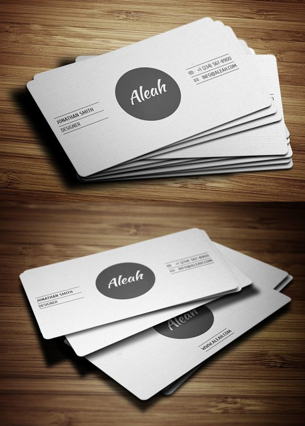Simple Textured Business Card