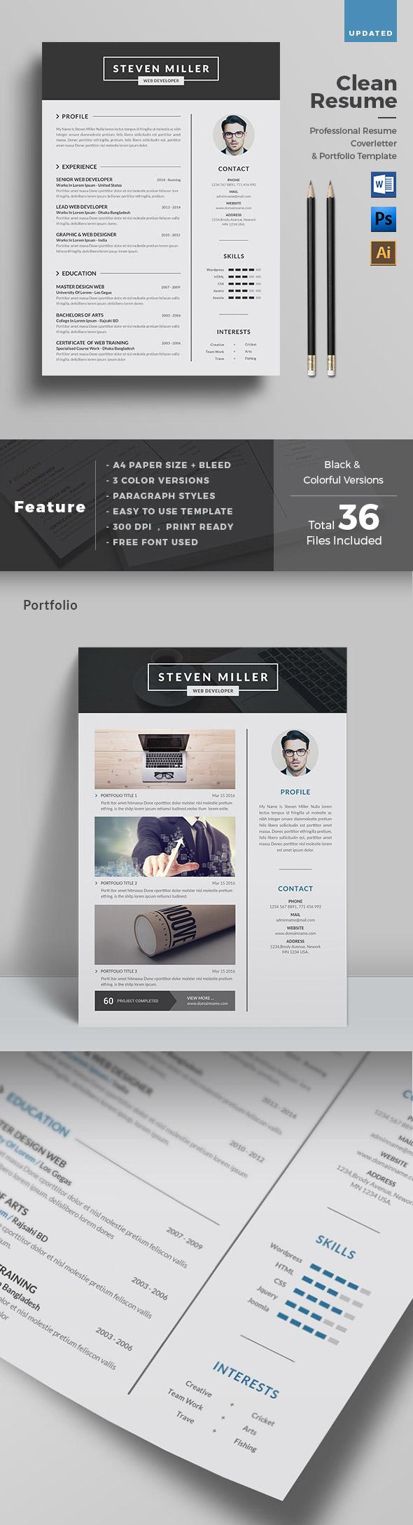Clean, Creative Resume Template