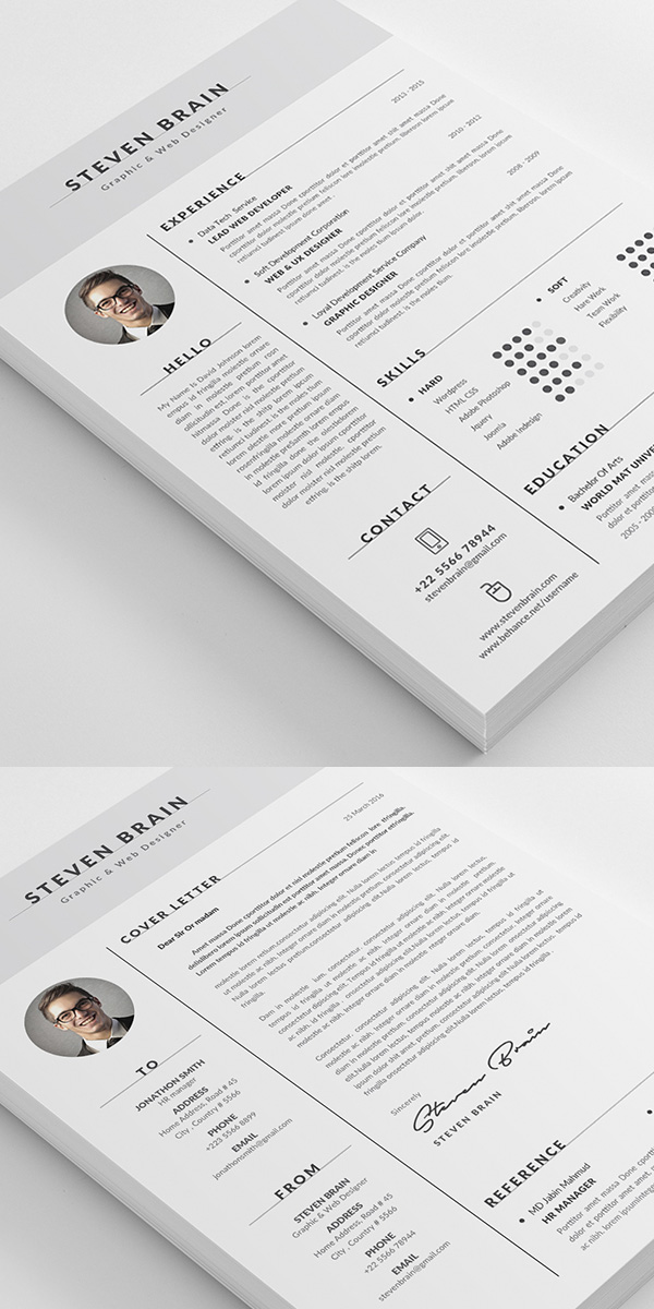 Simple Resume Template / CV Template