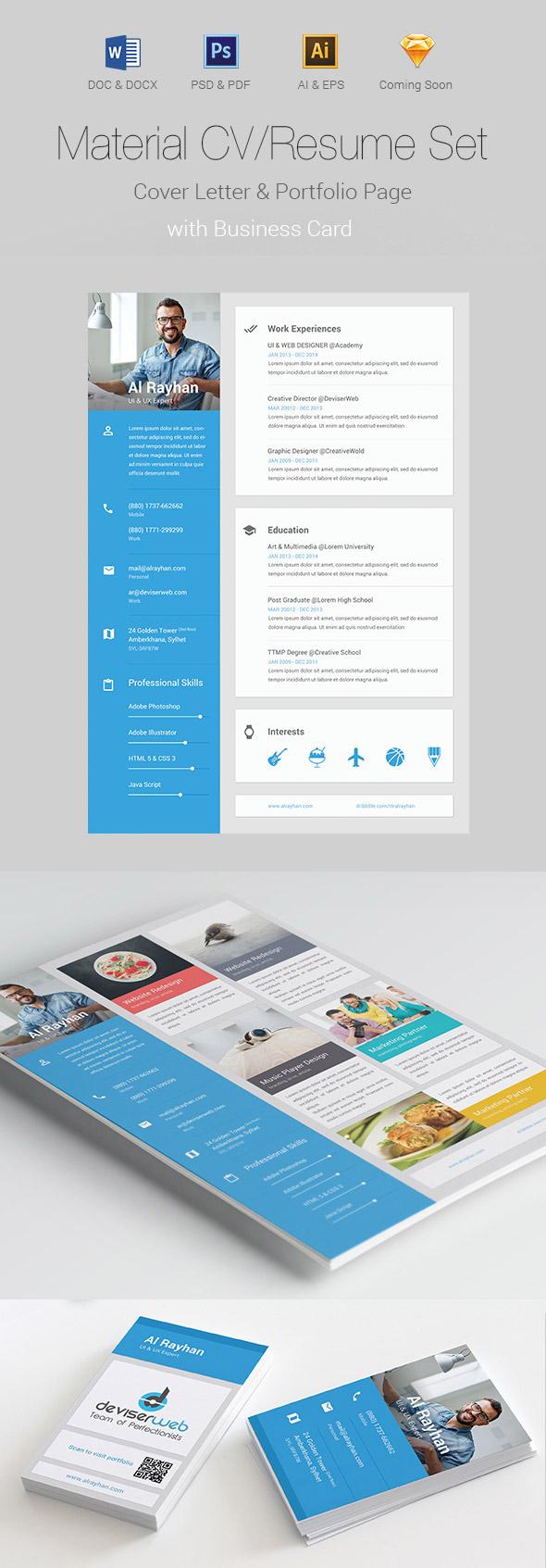 Material CV/Resume Design Set