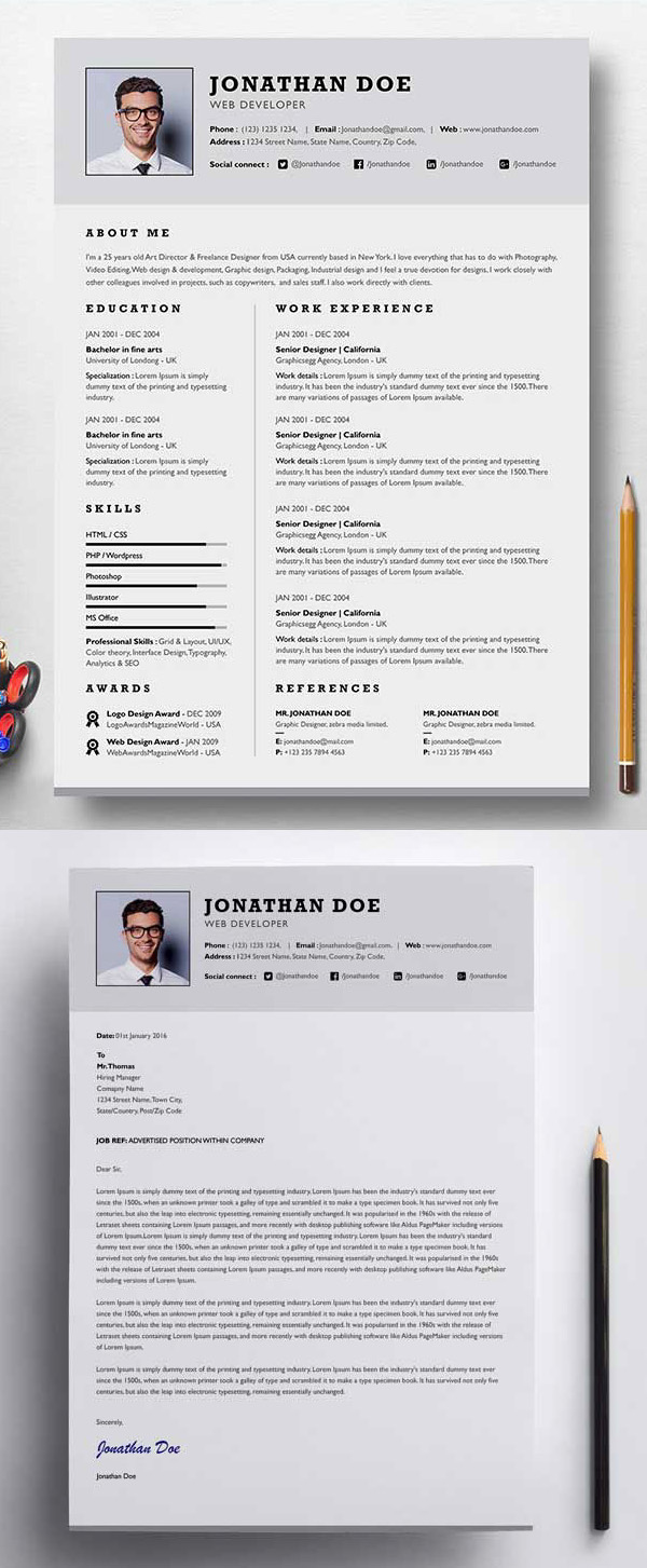 Professional Single Page Resume