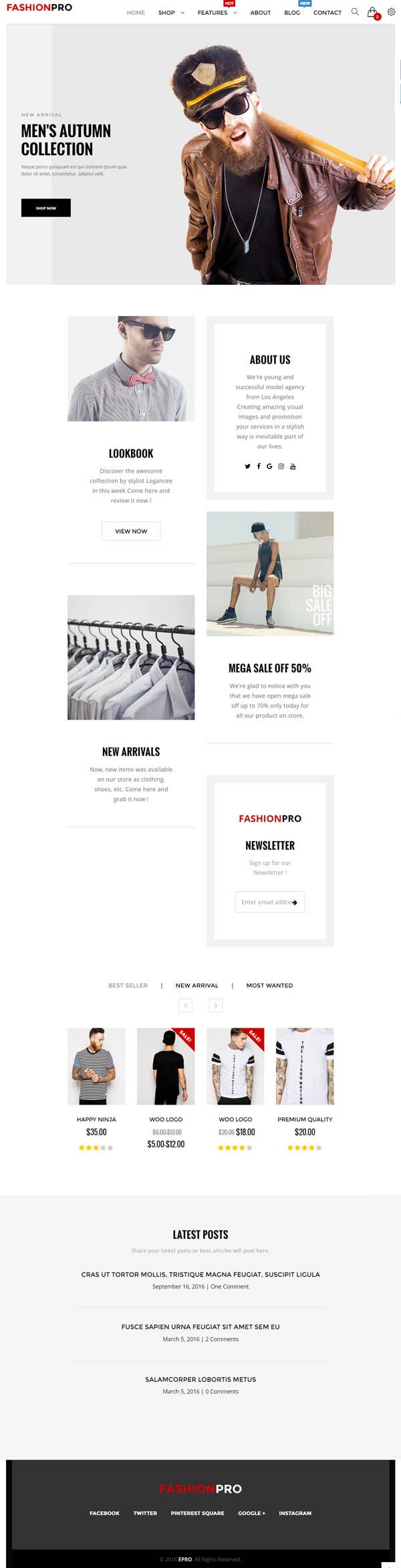 ePro – Multipurpose WooCommerce Theme