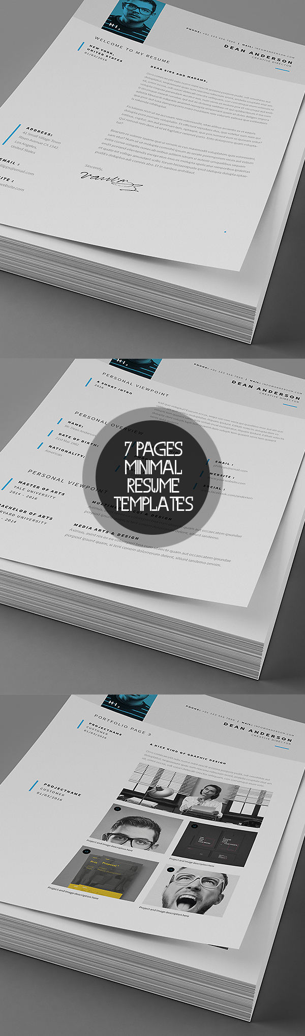 50 Best Minimal Resume Templates - 8