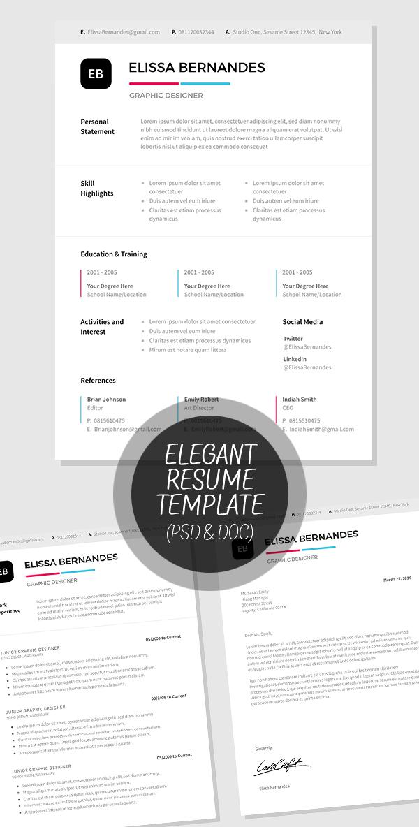 50 Best Minimal Resume Templates - 24